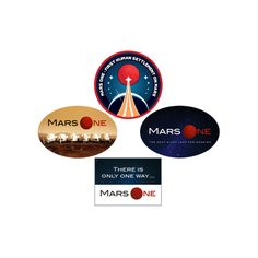 Set of 20 Mars One stickers