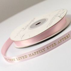 """And They Lived Happily Ever After!"""" Wedding Favor Ribbon - Fairy Tale Wedding Favors - Fairy Tale Wedding - Wedding Themes - My Wedding Personalized Ribbon, Personalized Wedding Favors, Wedding Shoppe, Cinderella Wedding, Wedding Favours Disney, Wedding Disney, Wedding Themes, Wedding Ideas, Wedding Inspiration"""