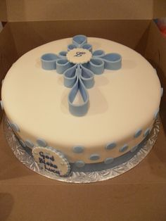 Boy Baptism — Childrens Cakes