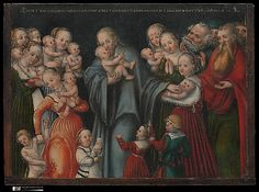 Christ Blessing the Children by Lucas Cranach the Younger and Workshop  (German, Wittenberg 1515–1586 Wittenberg)