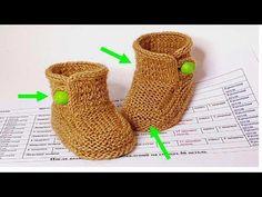 68 Пинетки спицами Василиса - YouTube Crochet Mittens, Booties Crochet, Knitting Socks, Baby Booties, Baby Knitting, Crochet Hats, Baby Slippers, Knitted Slippers, Tunisian Crochet