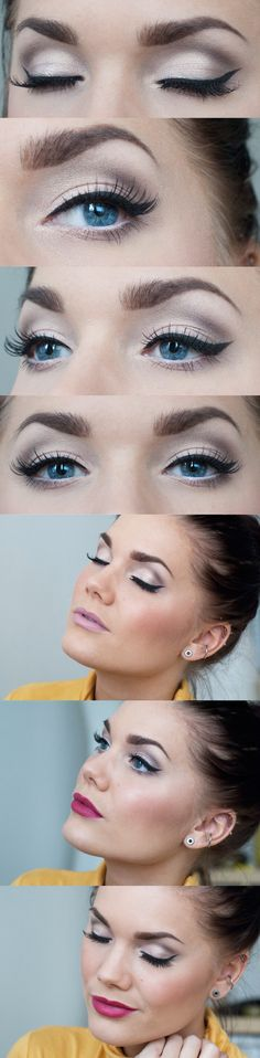 Gray smokey look