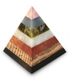 Onyx and rhodochrosite sculpture, 'Energy of the Pyramid' by NOVICA