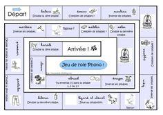un jeu de l'oie pour travailler certaines compétences en phonologie telles que scander, doubler ou inverser les syllabes d'un mot. La règle...
