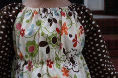 Sew Like My Mom: Peasant dress w/ elastic waist tutorial