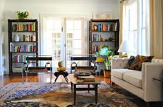 Tearing Up Houses: Before + After: The Lake House: The Living Room