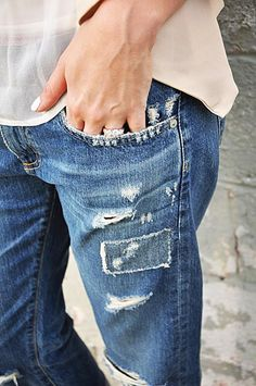 Gotta have distressed jeans - love distressed jeans