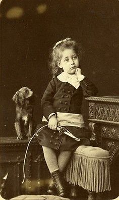 France Paris Children Toy Whisk Dog Old CDV Photo Walery 1875 | eBay