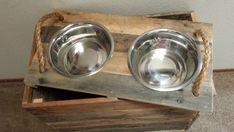 18 Tall Custom Dog Bowl Stand w/ Removable Lid by BuddysBowls