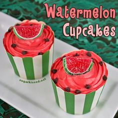 Yummy! Watermelon Cupcakes