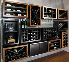 Fancy - Kessick Contemporary Wine Racking - I want this...not sure where but need it!