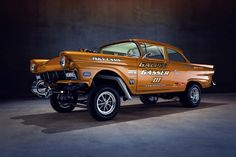 Know as the Galpin Gasser III, this immaculate creation pays homage to the late and great gassers of an era, but it also brings with it new-school technology into a more old-school world. Description from rodauthority.com. I searched for this on bing.com/images