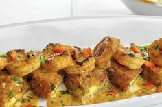 Recipe for Brio Tuscan Grille's Spicy shrimp and eggplant appetizer #MyBrioRecipes