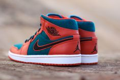 The third wool built Air Jordan 1 Mid has just started to hit shops like Rock City. The sneaker's look is achieved in a blend of red leather overlays with Popular Sneakers, Latest Sneakers, Retro Sneakers, Sneakers For Sale, Sneakers Fashion, Air Jordan Sneakers, Nike Air Jordans, Sneakers Nike, Jordan 1 Red