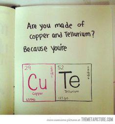 chemistry valentine I think my nerd of a boyfriend will appreciate this...