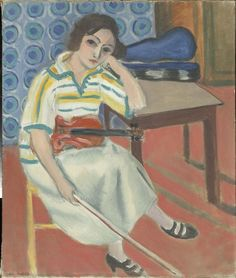 Woman with violin  - Henri Matisse