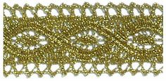 2.5 cm US $2.80/m x 30 meters Gold Torchon Bobbin Lace #2608 TRIMCO INC.