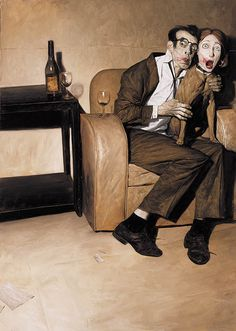 """This was the cover for an issue of Vertigo Comics """"FLINCH"""" series. I'm not sure of the proper title, but I always thought it should be called """"Another Saturday Night."""""""