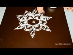 3 Simple and beautiful Rangoli designs for any festival - YouTube