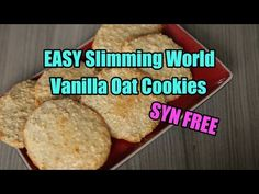 EASY Slimming World Vanilla Oat Cookies - SYN FREE Ingredients: unsweetened porridge oats (most of your your Healthy B allowance) 1 egg 4 tablespoons swe. Slimming World Cookies, Slimming World Biscuits, Slimming World Deserts, Baked Oats Slimming World, Slimming World Puddings, Slimming World Breakfast, Slimming World Recipes Syn Free, Slimming World Diet, Slimming Eats