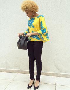 Blusa Lunender, calça Zara, bolsa Schutz e scarpin Arezzo. #MahVeste