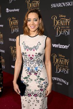 Mutant on the Loose from Beauty and the Beast Premieres Around the World  Aubrey Plaza supports her legion co-star Dan Stevens in Hollywood.