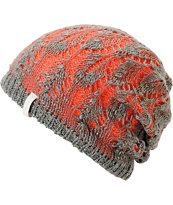 Empyre Girl Noble Crochet Orange & Grey Beanie. Pretty Cute.