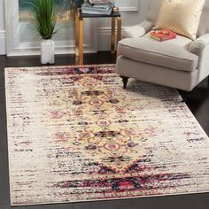 Office Rug - Hydra pink/ Ivory