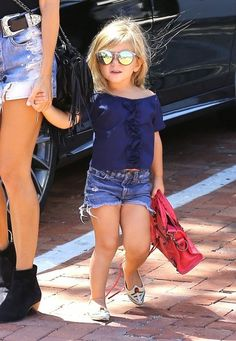 Penelope Disick is too cute. Kourtney's little girl was spotted out with her…