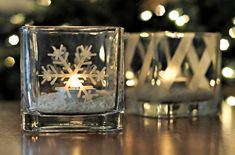 Create Your Own Etched Glass Candleholders (it's Easy!) :: Hometalk
