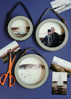 Circle frames hung from belts!