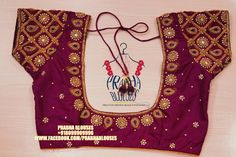 Prabha blouses. Hyderabad.<br> 12-6-211/3 viveknagar kukatpally. <br> Contact : 080999 09996. <br> Email : prabha.blouses@gmail.com. Wedding Saree Blouse Designs, Saree Blouse Neck Designs, Wedding Sarees, Sari Blouse, Simple Blouse Designs, Stylish Blouse Design, Mirror Work Blouse Design, Designer Blouse Patterns, Designer Dresses