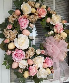 BREATH of SPRING   Vintage  Chic  Shabby Easter/Spring Wreath by DecorClassicFlorals, $149.95