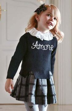 AMORE! Wij zijn helemaal in love met jurkje! #mayoral #amore #meisjes #kindermode #zwart #girlslook #fashionista #feestdagen #kerst #outfit #looks #inspiratie Christmas Dress Up, Cute Christmas Outfits, Xmas Party Dresses, Party Skirt, Little Fashionista, Outfit Online, Winter Outfits 2019, Girls Dresses, Flower Girl Dresses