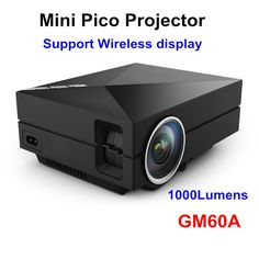 91.98$  Watch here - http://aliiy9.worldwells.pw/go.php?t=32653683661 - 2016 Newest GM60A 1000 lumens Built-in WiFi Diplay Mini Metal LED Home Theater Projector HD Video Projector Beamer 1080P 91.98$