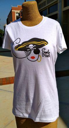 Doodle Divas Tshirt  Pirate Diva by DoodleDivas on Etsy