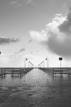 Free download of this photo: https://www.pexels.com/photo/benches-black-and-white-boardwalk-bridge-236444/ #wood #jetty #black-and-white