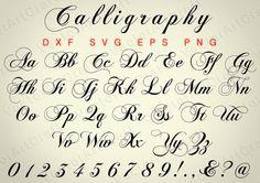 Calligraphy  eps Alphabet Numbers font dxfSVG от VectorArtCraft