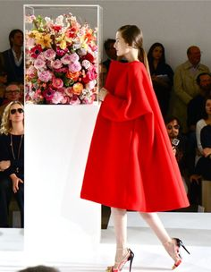 Jil Sander / FW '12/  The photography of this picture with the flowers & the coat = strikingly GORGEOUS!