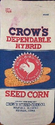 Crow's Dependable Hybrid Corn seed sack