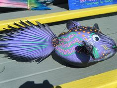 Handpainted coconut fish  from..Tiki Kim.com