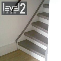 #level2traprenovatie #traprenovatie #traprenoveren #trapbekleden #betonlook Attic, Toilet, Stairs, Flooring, Decoration, Diy, House, Home Decor, Houses
