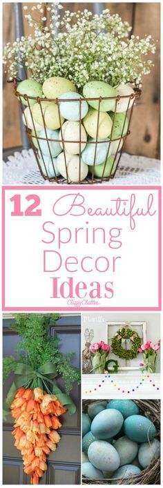 I love Spring because of all the gorgeous colors used! I love the food we eat on easter and the family gatherings we have. But I especially love decorating around the house! Checkout these ideas for adding spring decor into your home. Easy Crafts To Make, Diy And Crafts, Easy Diy, Crafts For Kids, Unicorn Ornaments, Martha Stewart Crafts, Decoration Originale, Diy Headboards, Spring Home Decor