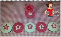 Mi Dulce Cocina: Cupcakes de Cola-Cao rellenos de mermelada
