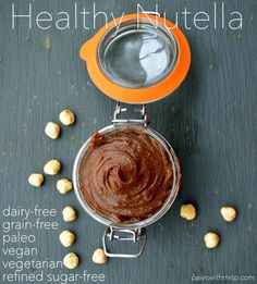 Nutella, eat your heart out, meet Healthy Nutella, the skinnier, tastier sister, that's kinder on your blood-sugar level and takes no time at all to make. It's diabetic friendly, lasts for months in the refrigerator and has a decadent nutty chocolate taste  to it!