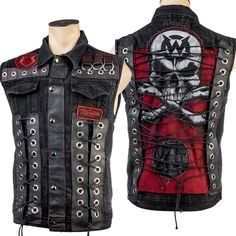 Custom Stitched Skull Red Stitching Laced Up Vest WSCV-439 MTO http://www.wornstar.com/collections/stage-wear/products/custom-stitched-skull-red-stitching-laced-up-vest-wscv-439-mto?utm_content=bufferbaf64&utm_medium=social&utm_source=pinterest.com&utm_campaign=buffer