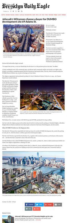 Jw News, Jehovah's Witnesses, City Photo, Jehovah Witness