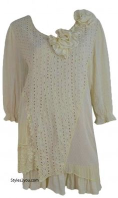 Lizzie Vintage Victorian Shirt Dress With Rose Collar In Carmel