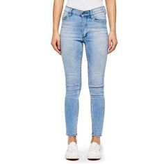 Cheap Monday Women's 'Second Skin' High Waisted Skinny Jeans -... ($75) ❤ liked on Polyvore featuring jeans, pants, blue, blue jeans, skinny jeans, high-waisted jeans, zipper skinny jeans and cheap monday jeans