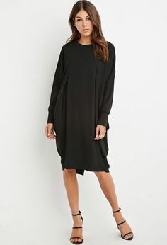 Inverted-Pleat Cocoon Dress | Forever 21 - 2000156873